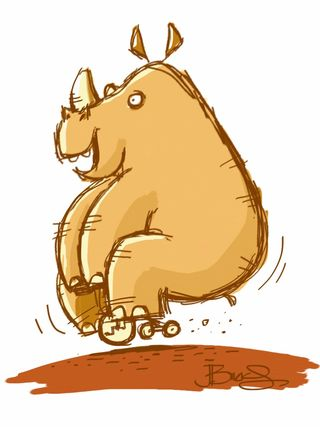 Rhino - sketch of the day.